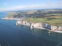 The Etretat cliffs